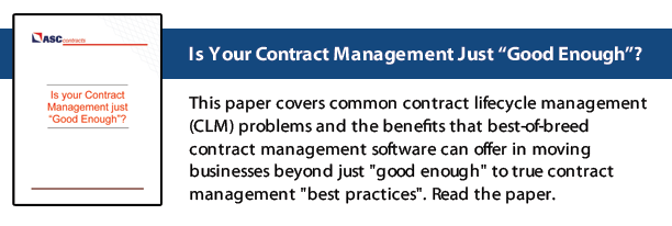Contract Management White Paper - Best Practices | ASC