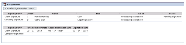 eSignature Signee Selection